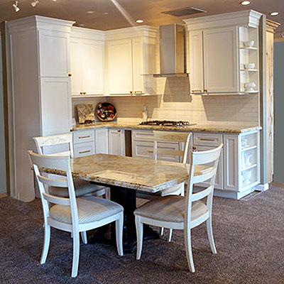 Kitchen table and cabinets
